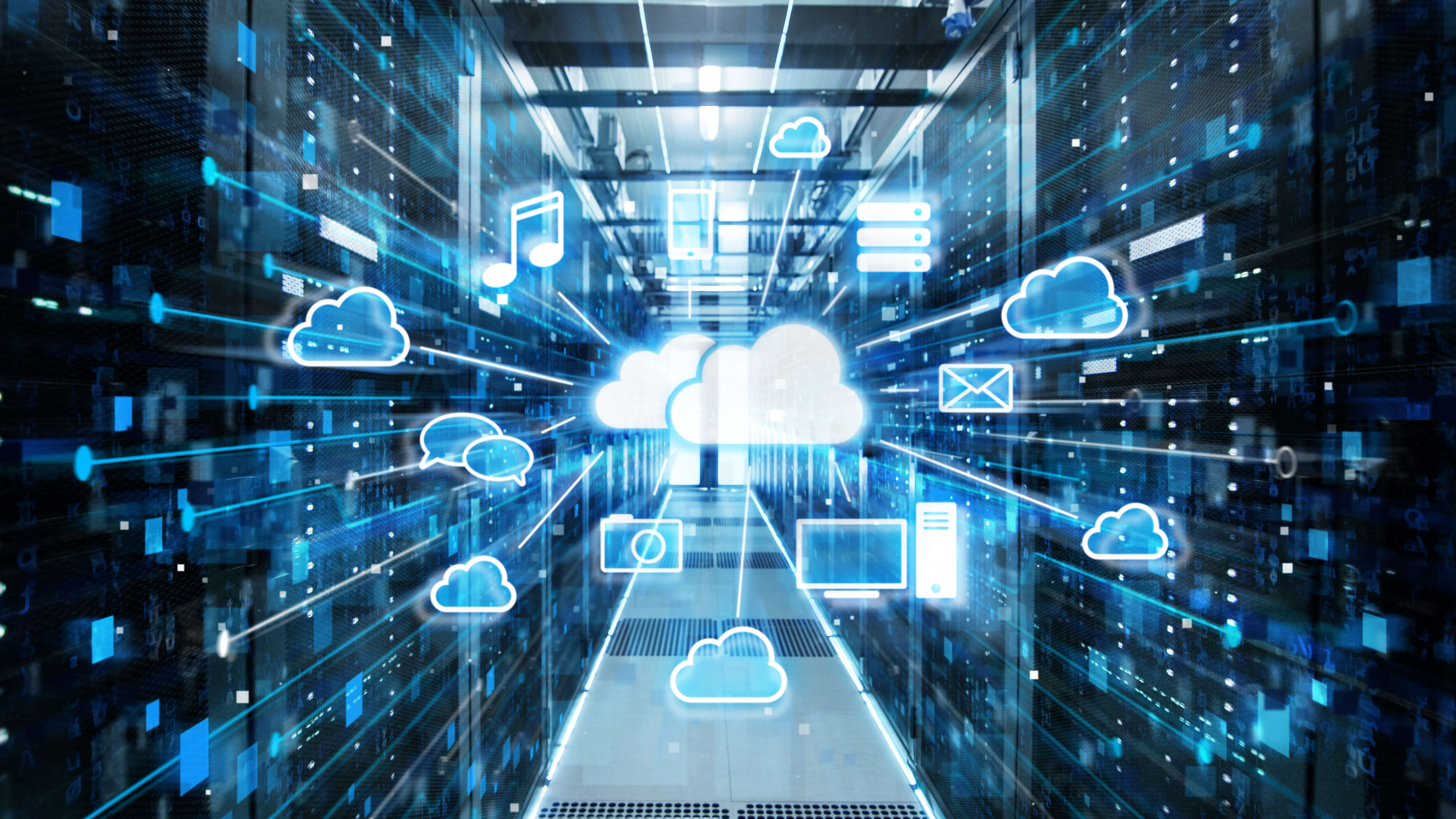 Cloud services provided from datacenter