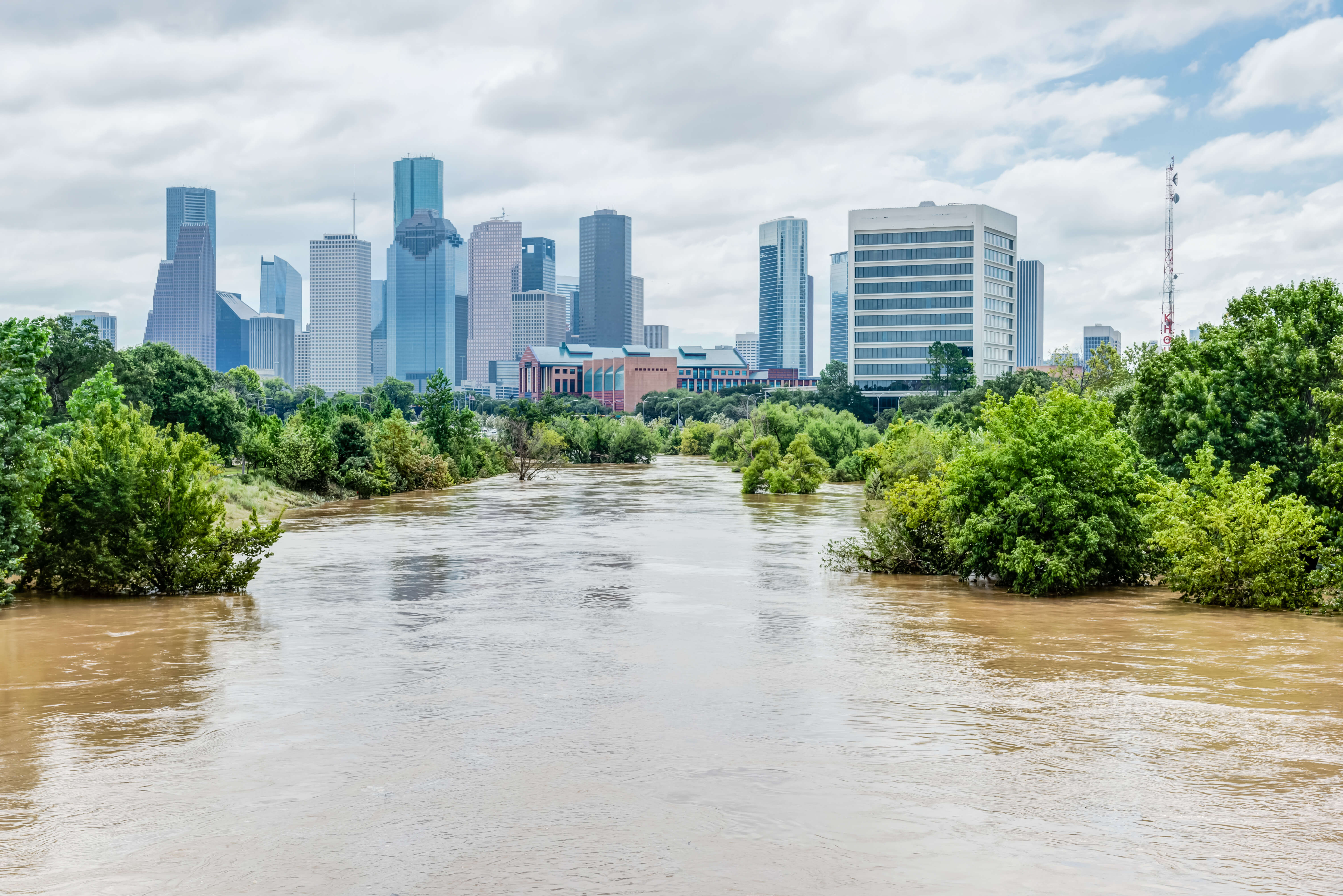 Flooding in downtown Houston